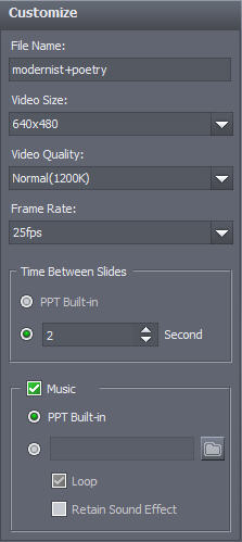 How to convert PPT to WMV video