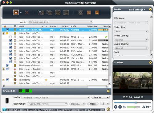 videos converting on Mac computer